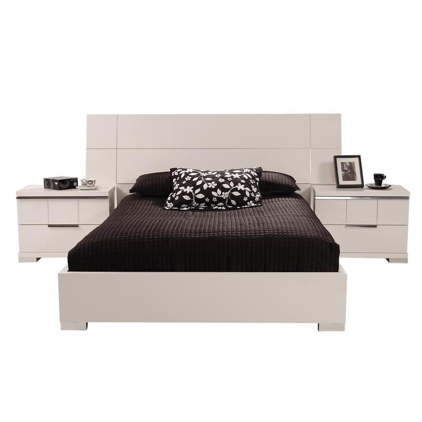 Asti Queen Platform Bed Made in Italy  alternate image, 4 of 7 images.
