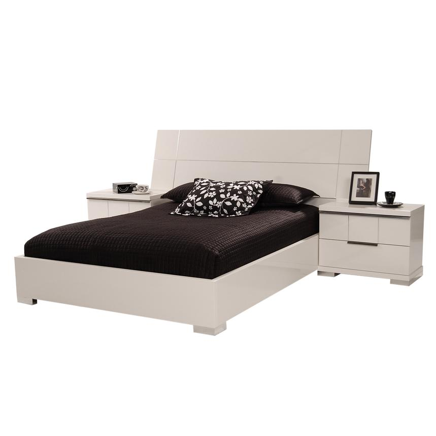 Asti Queen Platform Bed Made in Italy  alternate image, 3 of 6 images.