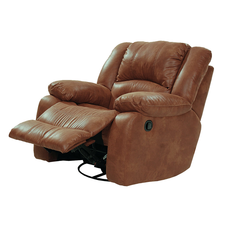 Wrangler Tan Swivel Glider Recliner  alternate image, 3 of 5 images.