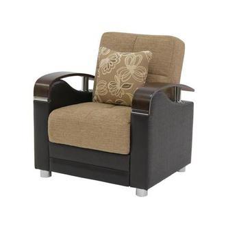 Peron Tan Futon Chair