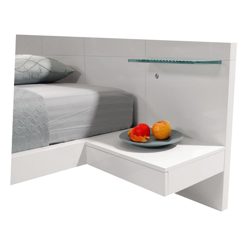 Chico White King Platform Bed w/Nightstands  alternate image, 3 of 7 images.