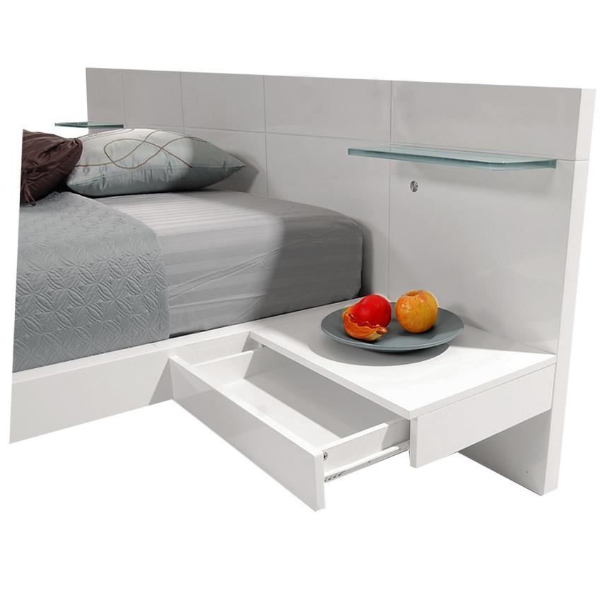 Chico White Full Platform Bed w/Nightstands  alternate image, 4 of 7 images.