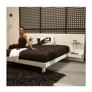 Chico White King Platform Bed w/Nightstands  alternate image, 2 of 7 images.