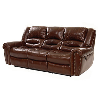Dellis Recliner Leather Sofa
