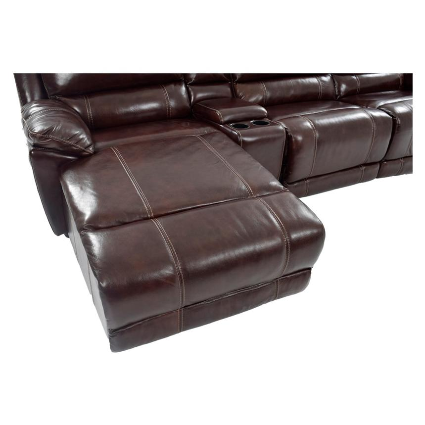 Theodore Brown Power Motion Leather Sofa w/Left Chaise  alternate image, 8 of 9 images.