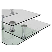 Square Clear Silver Motion Coffee Table  alternate image, 3 of 6 images.