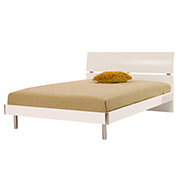 Bellmar White Twin Platform Bed  main image, 1 of 8 images.