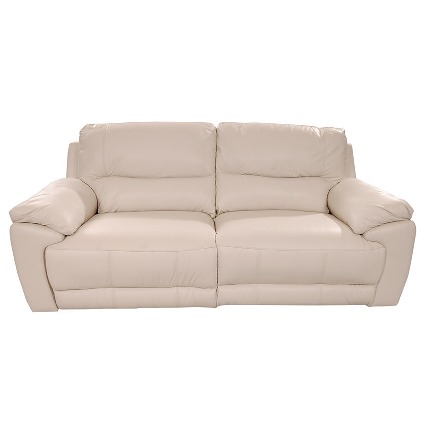 Macklein Cream Power Motion Leather Sofa  alternate image, 4 of 10 images.