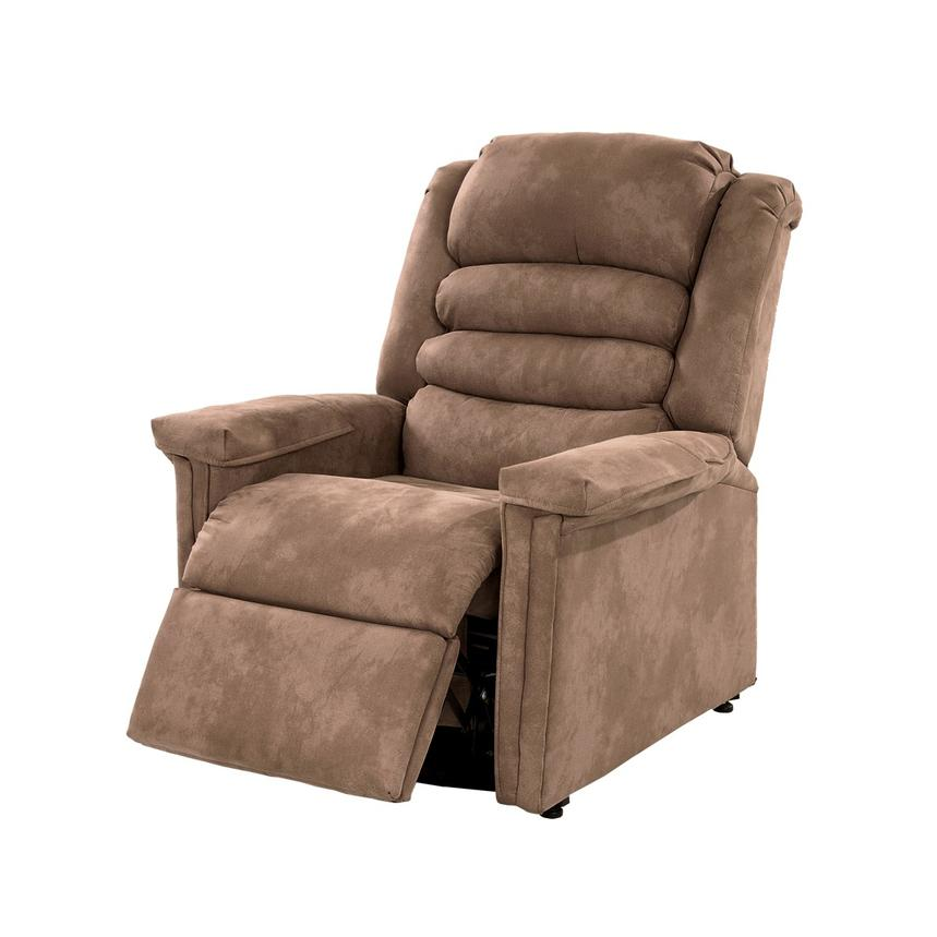 Soother Light Brown Power-Lift Recliner by Catnapper  alternate image, 3 of 9 images.