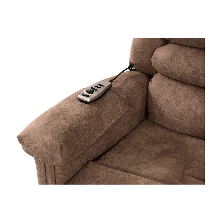 Soother Light Brown Power-Lift Recliner by Catnapper  alternate image, 8 of 9 images.