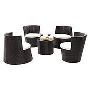 Tower Black 5-Piece Patio Set (Sold By Set Only)  alternate image, 2 of 17 images.
