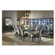Hollywood Swank Black 5-Piece Formal Dining Set  alternate image, 3 of 16 images.