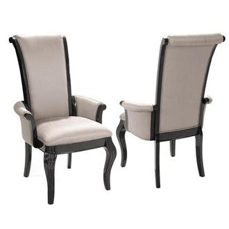Hollywood Swank Black Arm Chair