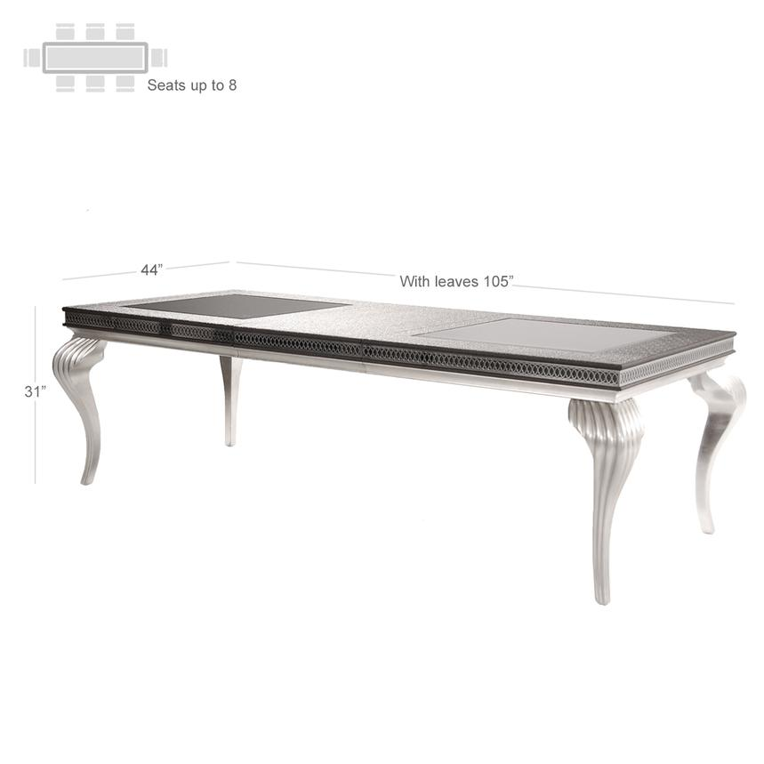hollywood swank black extendable dining table | el dorado furniture