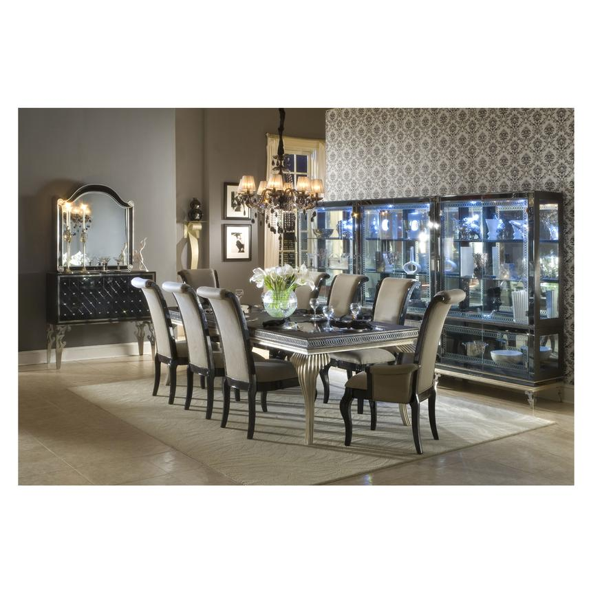 Hollywood Swank Black Extendable Dining Table Alternate Image 3 Of 10 Images