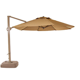 Roma Beige Round Umbrella
