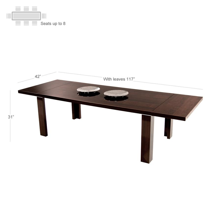 Pisa Extendable Dining Table Made in Italy  alternate image, 3 of 5 images.