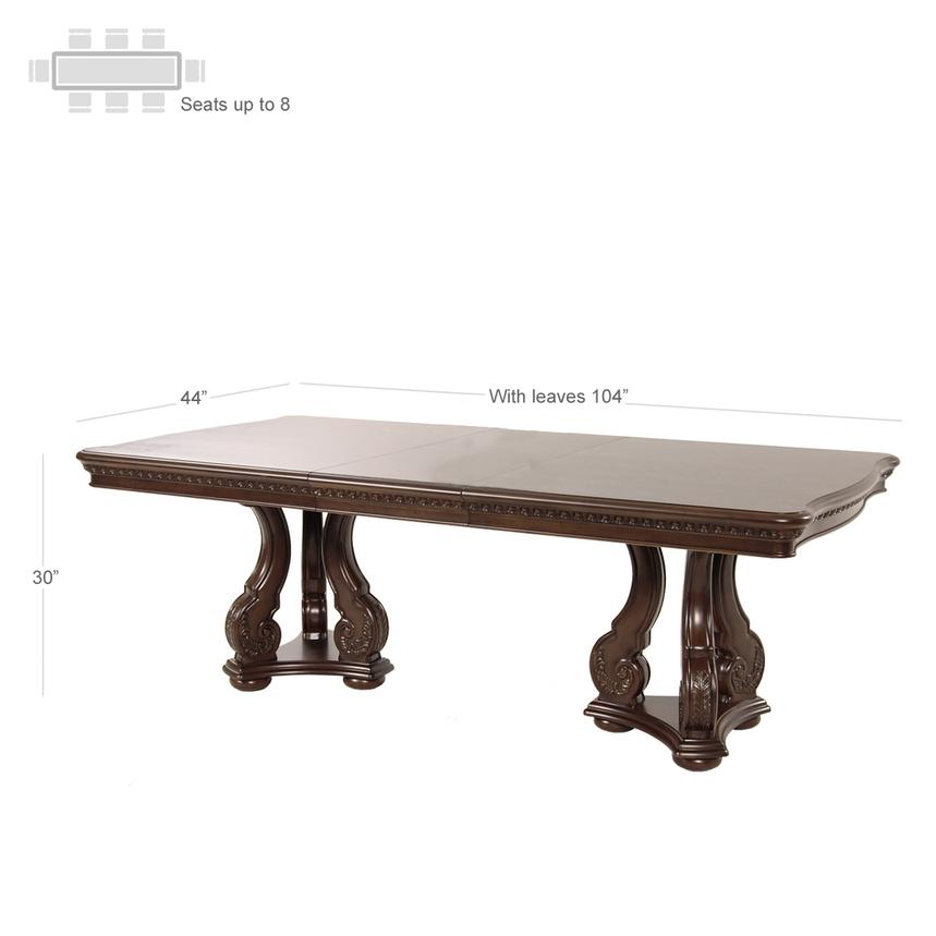 San Marino Extendable Dining Table  alternate image, 3 of 6 images.