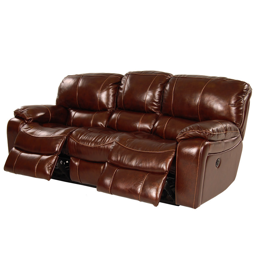 hudson power motion leather sofa el dorado furniture. Black Bedroom Furniture Sets. Home Design Ideas