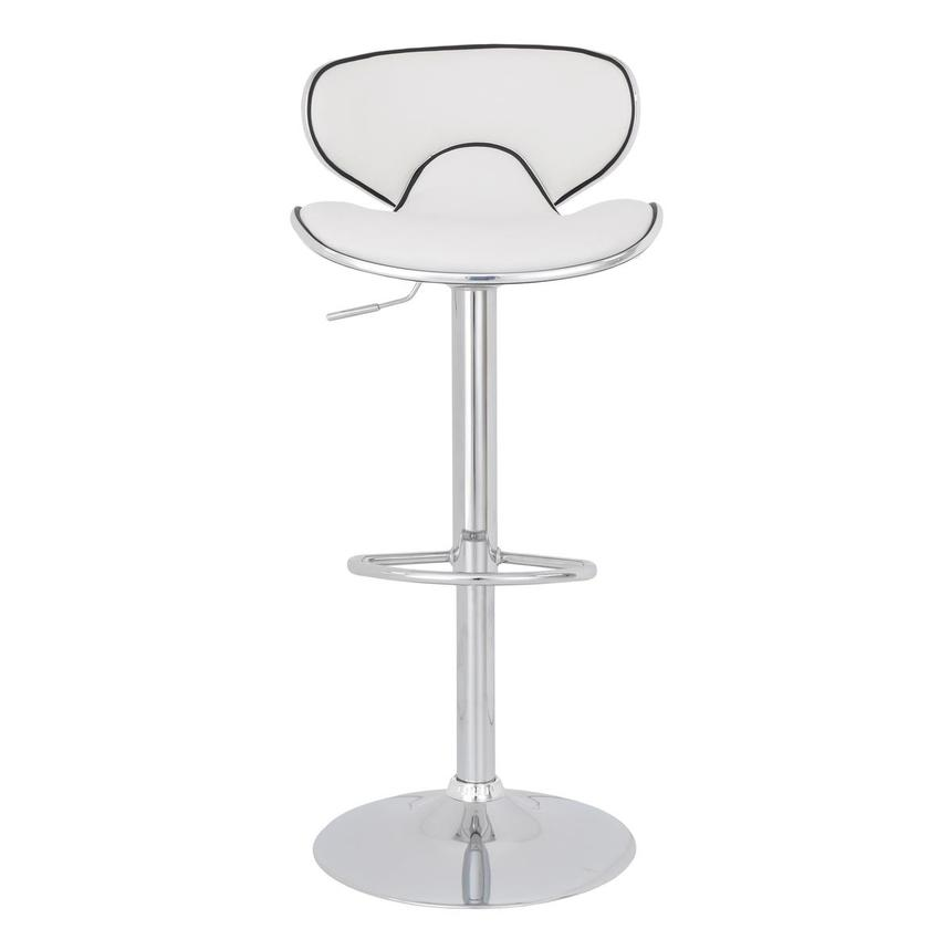 Clipper White Adjustable Stool  alternate image, 3 of 7 images.