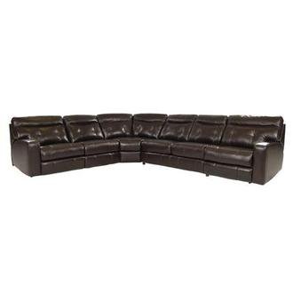 Owen Dark Walnut Power Motion Leather Sofa w/Sleeper