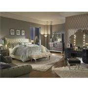 Hollywood Swank Pearl Queen Platform Bed  alternate image, 2 of 7 images.