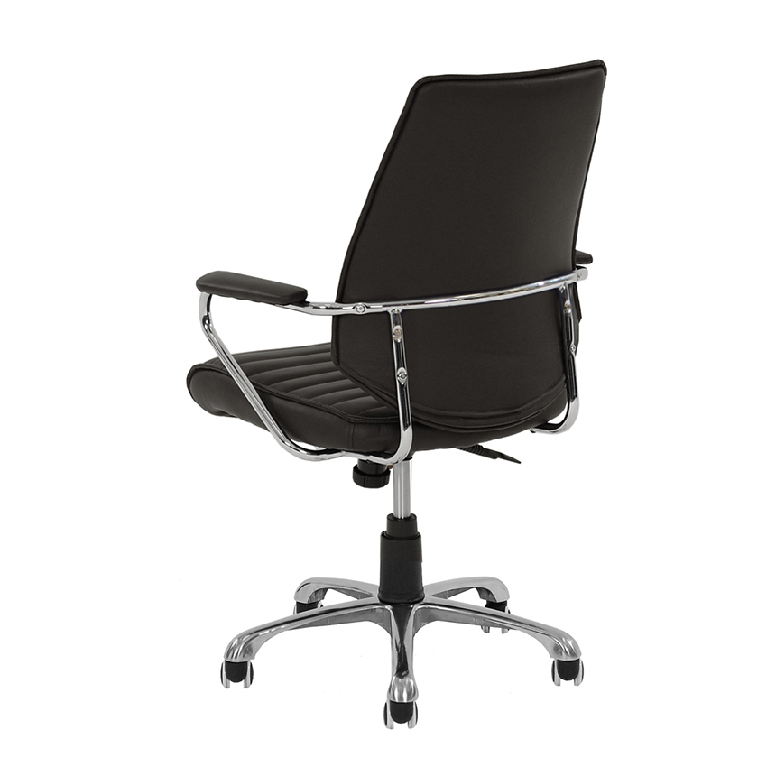Enterprise Black Desk Chair  alternate image, 3 of 6 images.