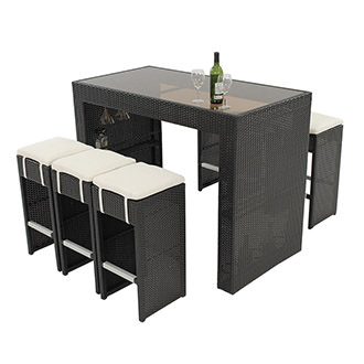 Neilina Gray 7 Piece Patio Set El Dorado Furniture