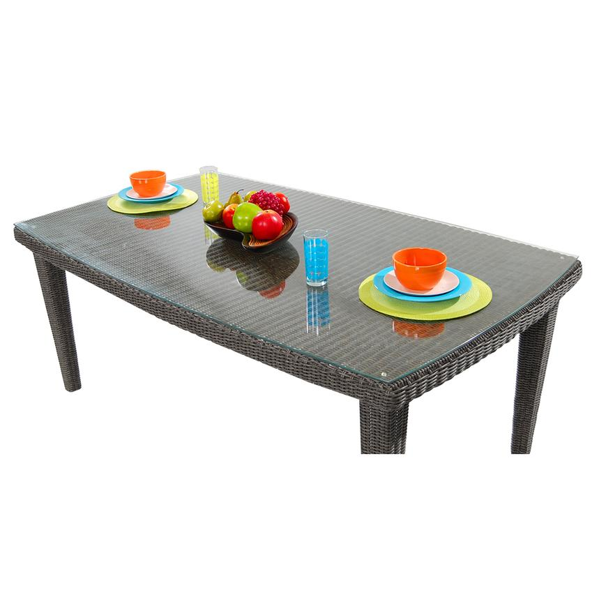 Luxor Brown Rectangular Dining Table  alternate image, 4 of 6 images.
