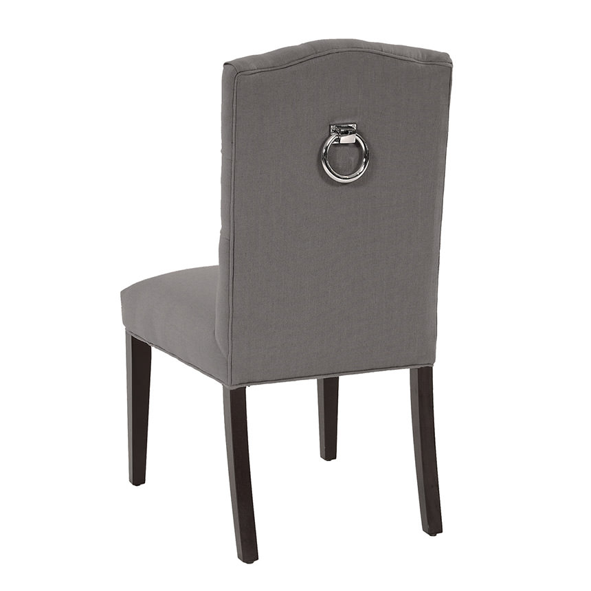 Hudson Gray Side Chair  alternate image, 3 of 6 images.