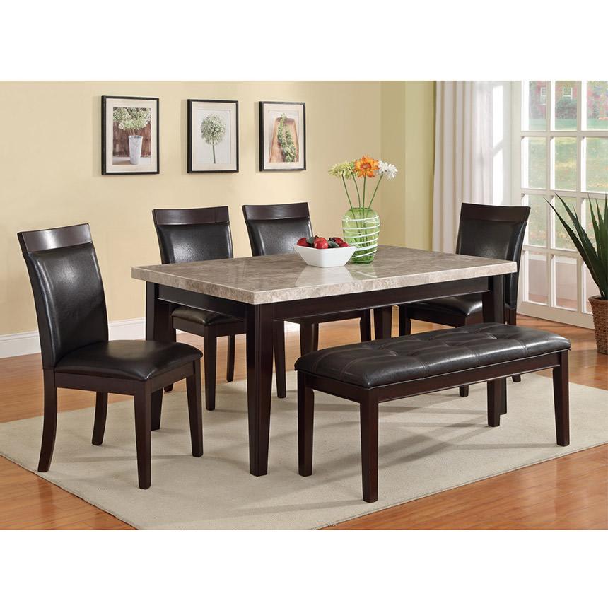 Arcadia Rectangular Dining Table El Dorado Furniture - Rectangular dining table and 4 chairs