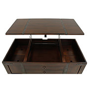 Santa Fe Lift Top Coffee Table w/Casters  alternate image, 3 of 6 images.