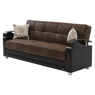 Charmant Peron Chocolate Futon Sofa