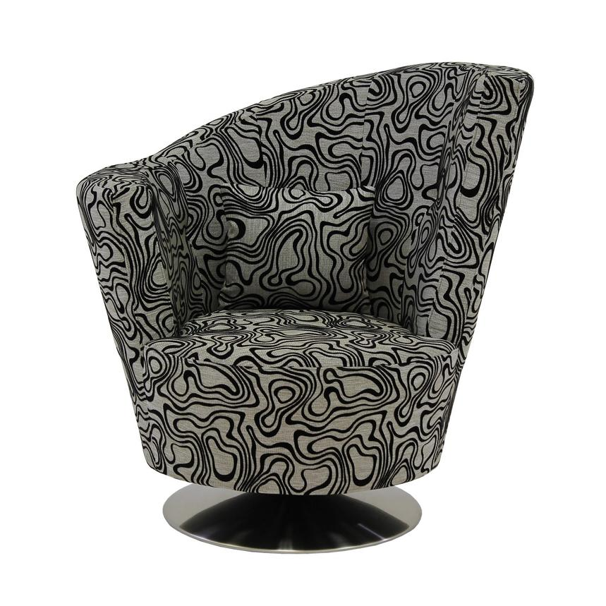 Sasha Swirl Swivel Accent Chair  alternate image, 3 of 7 images.