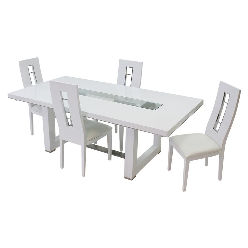 Novo White 5-Piece Formal Dining Set  alternate image, 3 of 12 images.
