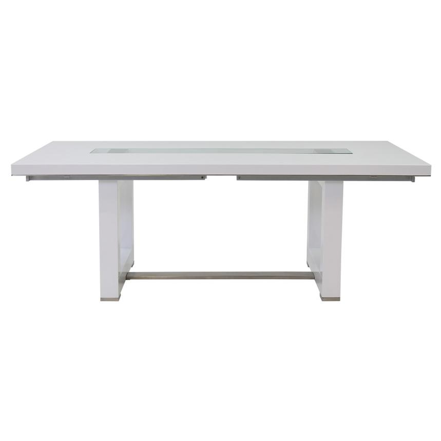 novo white extendable dining table alternate image 4 of 7 images - White Extending Dining Table