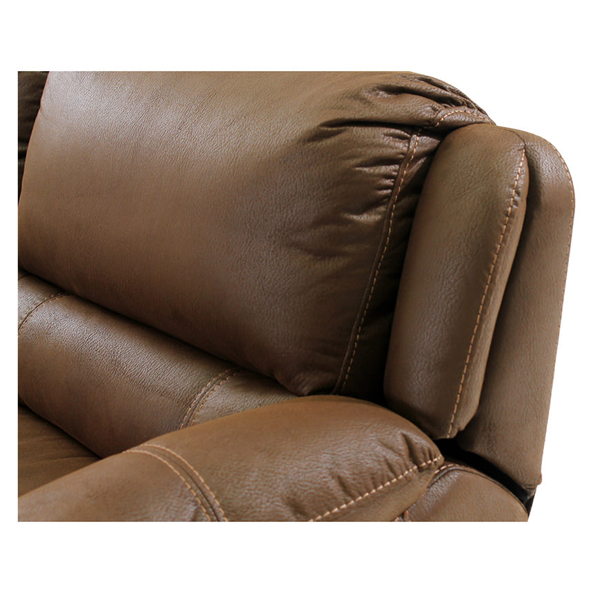 Augusto Chocolate Power Motion Sofa w/Right & Left Recliners  alternate image, 3 of 8 images.