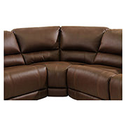 Augusto Chocolate Power Motion Sofa w/Right & Left Recliners  alternate image, 5 of 8 images.