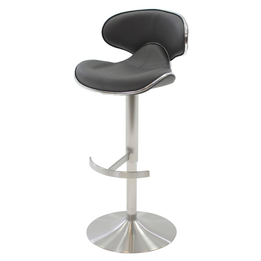 Ecco Gray Adjustable Stool  alternate image, 3 of 7 images.