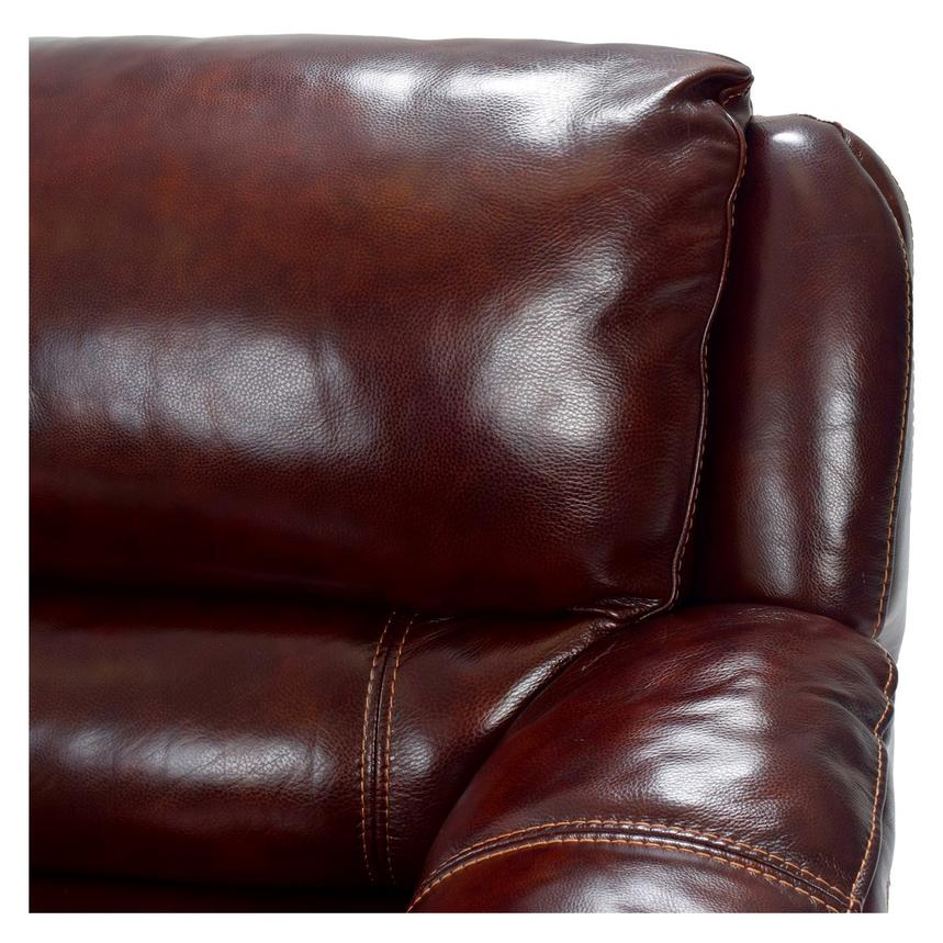 Theodore Burgundy Power Reclining Leather Sofa  alternate image, 6 of 8 images.