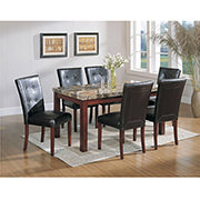 Achillea Brown 5-Piece Casual Dining Set  alternate image, 4 of 10 images.
