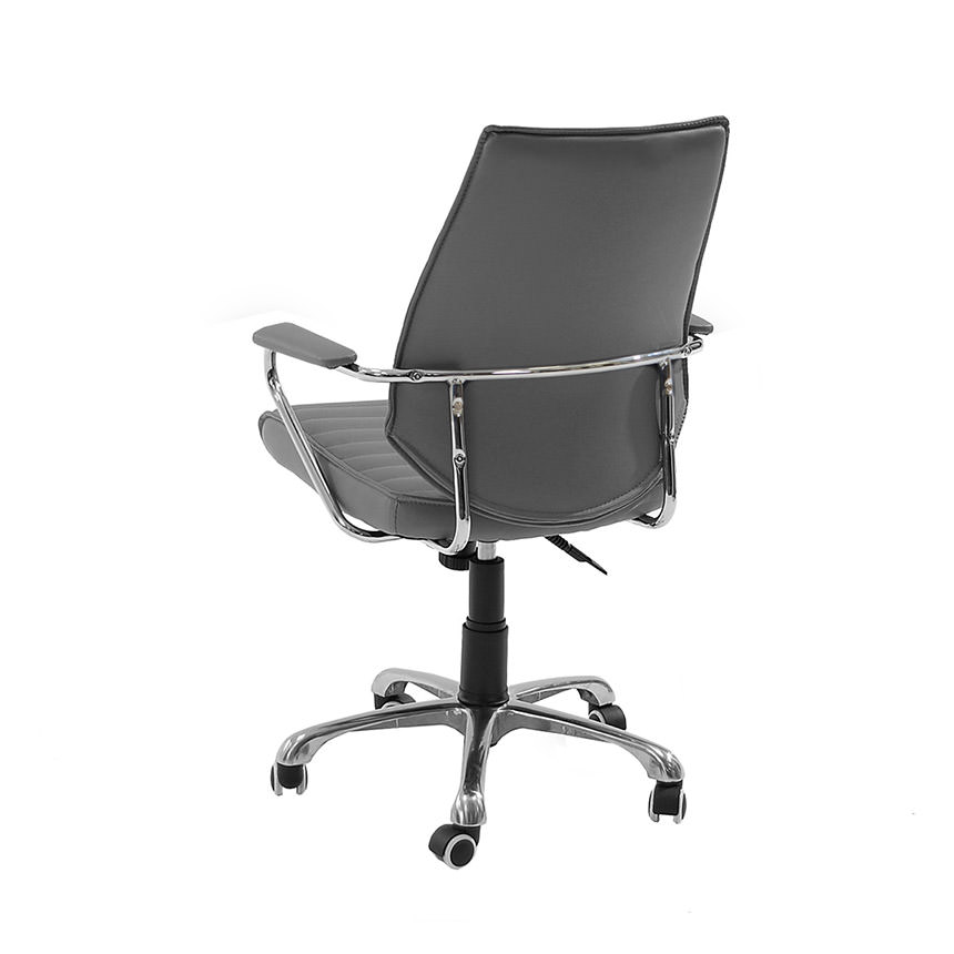 Enterprise Gray Desk Chair  alternate image, 3 of 6 images.