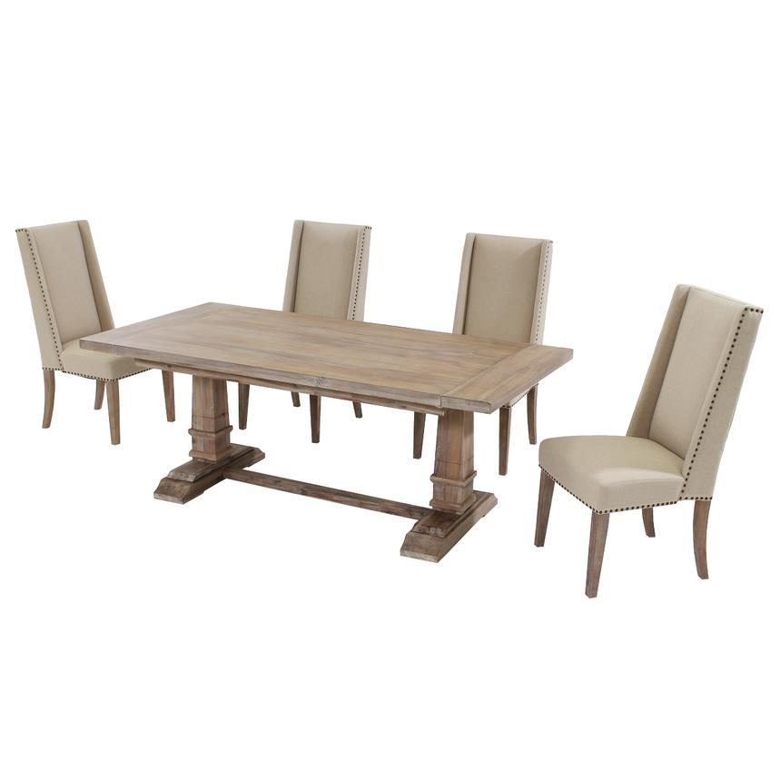 Hudson Cream 5-Piece Formal Dining Set  alternate image, 3 of 13 images.
