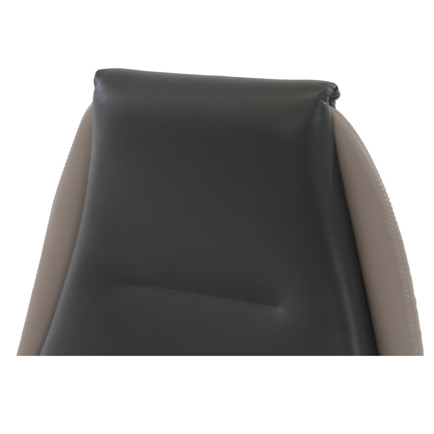 Prector Gray Leather Desk Chair  alternate image, 4 of 8 images.