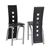 Dominoes Black 5-Piece High Dining Set  alternate image, 6 of 8 images.