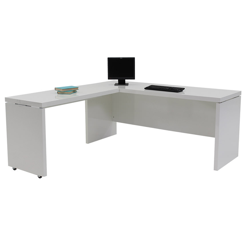 Sedona White L Shaped Desk Made In Italy Alternate Image 2 Of 6 Images