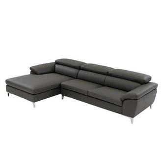 Costa Gray Sofa w/Left Chaise