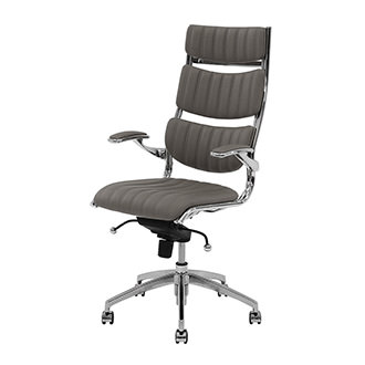 Bell Gray High Back Desk Chair