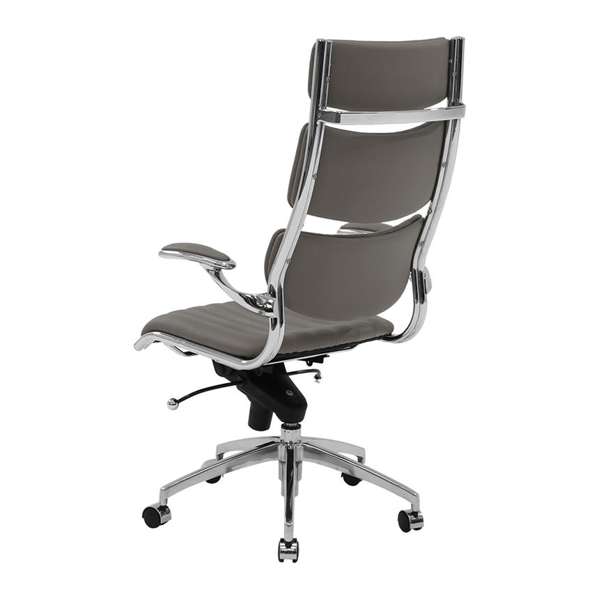 Bell Gray High Back Desk Chair Alternate Image 3 Of 7 Images