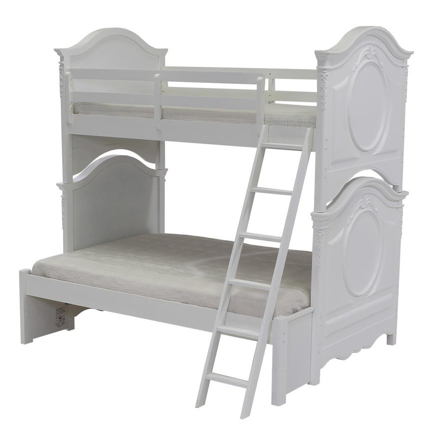 Sweet Pea White Twin Over Full Bunk Bed  alternate image, 3 of 7 images.